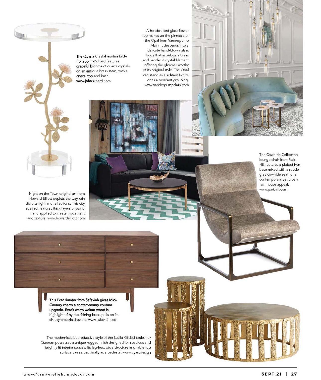Furniture, Lighting, & Décor - September 2021